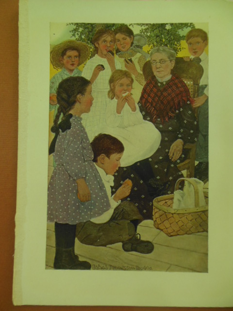 Image for Ethel Franklin Botts Print 1906 (Children With Grandma)