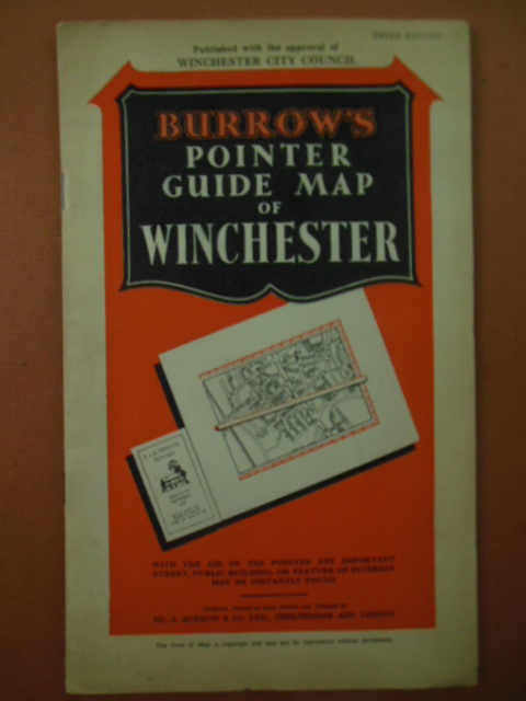Image for Burrow's Pointer Guide Map of Winchester, England (Third Edition 1930's)