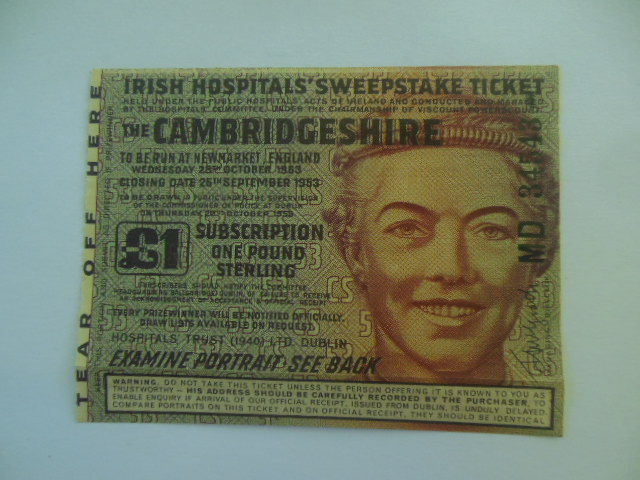 Image for Irish Hospitals' Sweepstake Ticket 1953