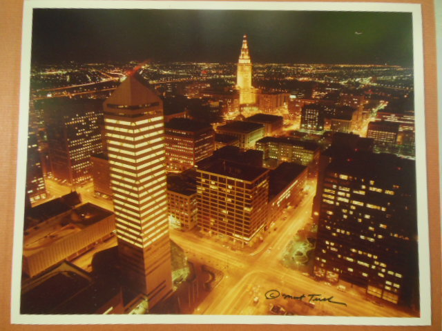 Image for Cleveland at Night Photograph by Mort Tucker 1984