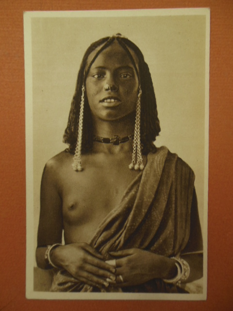 Image for Costumi Africa Orientale Postcard Series 29 Young African Woman Jewelry (1920's)