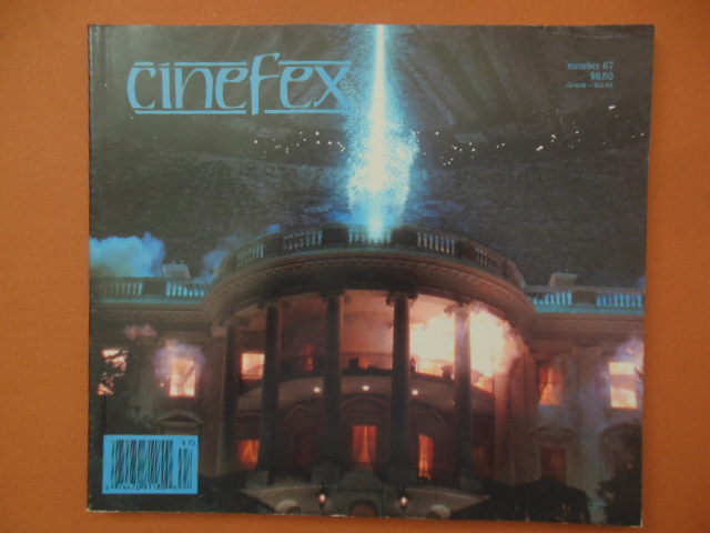 Image for Cinefex: The Journal of Cinematic Illusions No. 67 September 1996 (Independence Day, The Nutty Professor, Pinocchio)