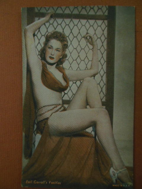Image for Tinted Postcard Earl Carroll Vanities Showgirl (1940's)