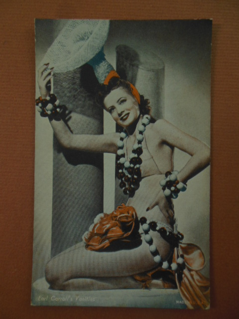 Image for Tinted Postcard Earl Carrol's Vanities Showgirl