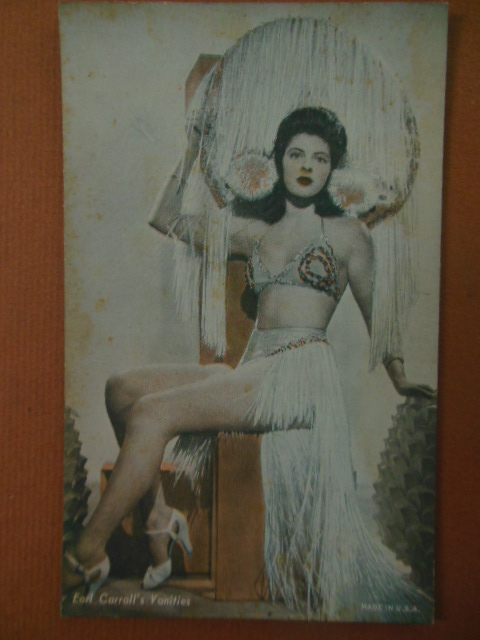 Image for Tinted Postcard Earl Carroll's Vanities Showgirl