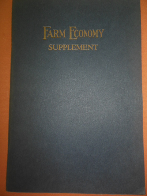 Image for Farm Economy Supplement (1923)