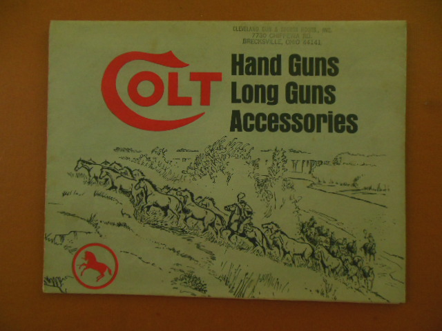 Image for Colt Hand Guns Long Guns Accessories (Huge Advertising Brochure 1971)