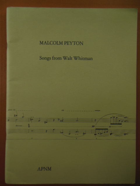 Image for Malcolm Peyton Songs From Walt Whitman