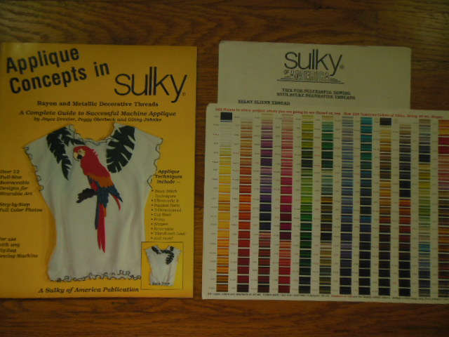 Image for Applique Concepts in Sulky Rayon & Metallic Decorative Threads (1996 with Color Chart)