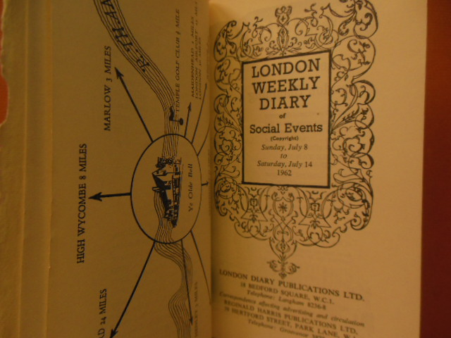 Image for London Weekly Diary of Social Events 1962 (Mirabelle Hotel)