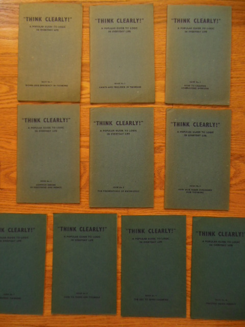 Image for Think Clearly! A Popular Guide To Logic In Everyday Life (10 booklets)