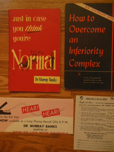 Image for Just In Case You Think You're Normal; How to Overcome An Inferiority Complex (2 booklets 1950's)