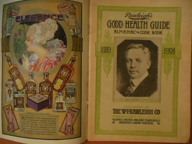 Image for Rawleigh's Good Health Guide Almanac Cook Book 1921