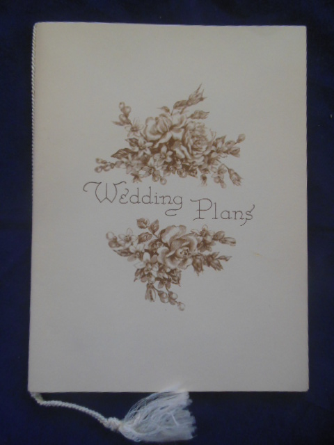 Image for Wedding Plans Bride's Book 1950's
