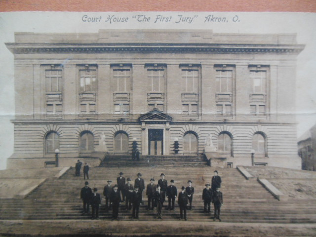 "Image for Postcard ""The First Jury"" Akron, Ohio Court House (1909)"