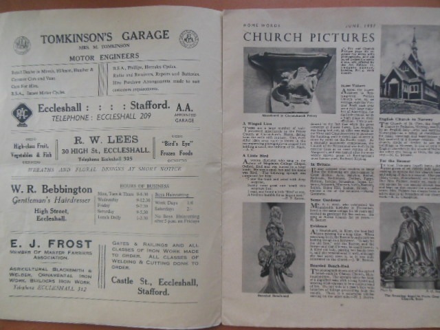 Image for The Church Magazine of Eccleshall June, 1957 (England)