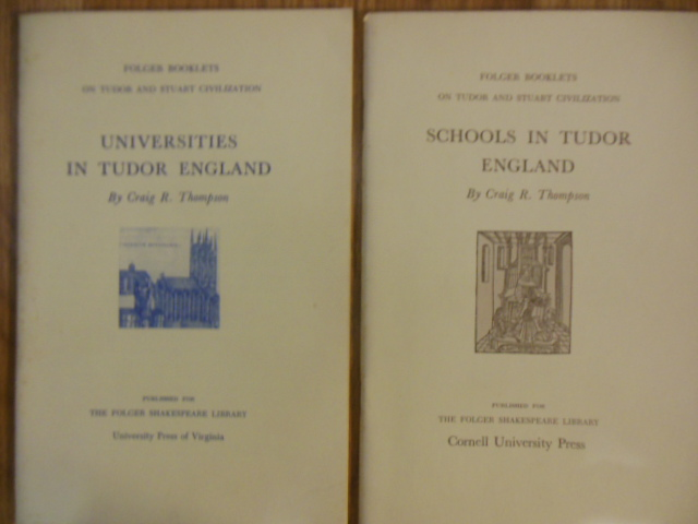 Image for Schools in Tudor England; Universities in Tudor England (2 booklets, 1960's)