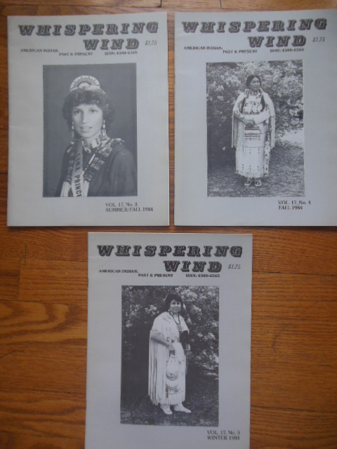 Image for Whispering Wind Magazine Vol. 17. No. 3,4,5 (Native American 1984)