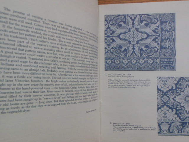 Image for Wove in Indiana and Fancy Weaving Jacquard Coverlets  By Indiana Weavers  (two exhibition catalogs)