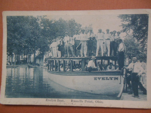 Image for Postcard Evelyn Boat Russells Point, Ohio 1920