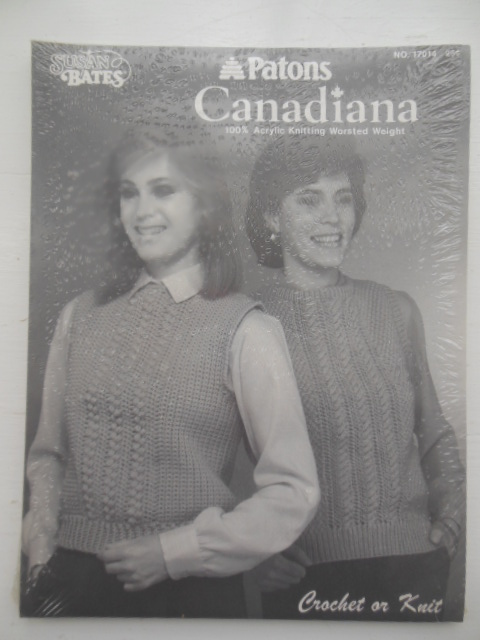 Image for Patons Canadiana Crochet or Knit by Susan Bates No. 17014