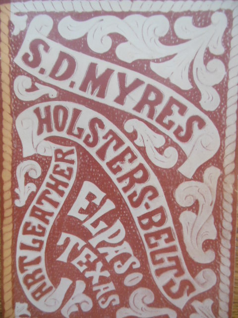 S.D. Myres Holsters Belts Art Leather (1944 Trade Catalog)