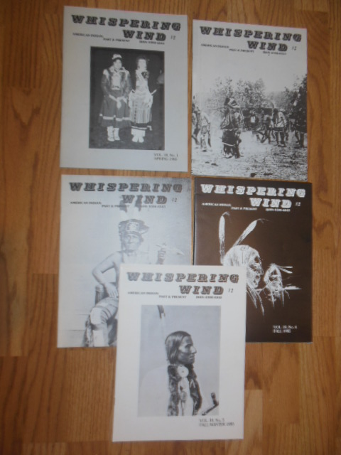 Image for Whispering Wind Magazine (Native American Five Issues 1985)