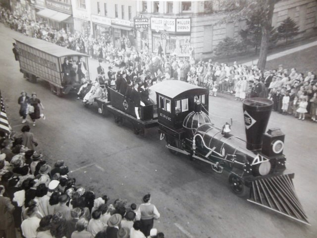 Image for Photograph Erie Railroad Cleveland Parade (1950's)