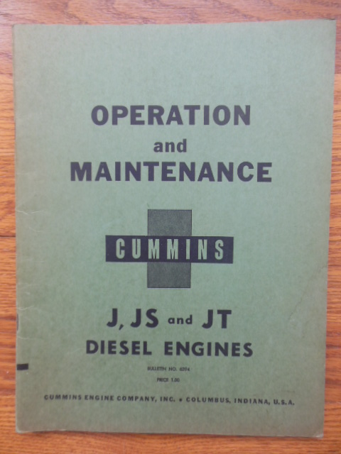 Image for Operation and Maintenance Cummins J, JS and JT Diesel Engines Bulletin No. 6394 (1954)