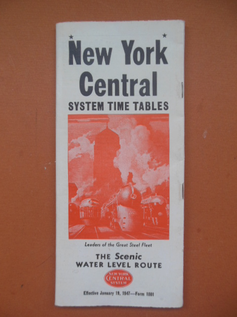 Image for New York Central System Tables, The Scenic Water Level Route. Effective August 3, 1947 - Form 1001