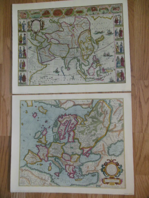 Image for Decorative Old Maps of the Sixteenth, Seventeenth and Eighteenth Centuries (Six Fine Prints in Full Color 1940)