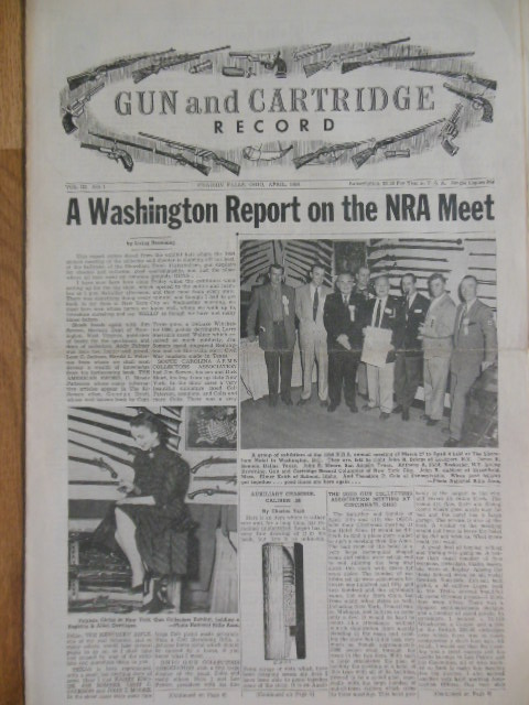 Image for Gun and Cartridge Record (April, 1954)