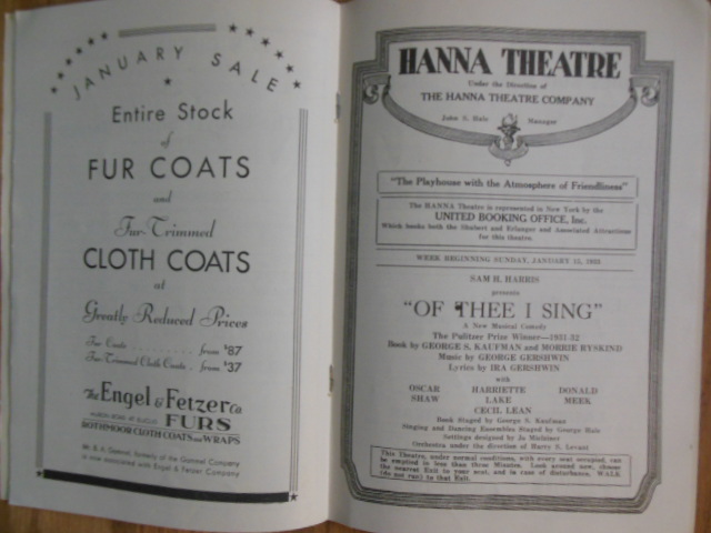 Image for The Hanna Theatre Program (January, 1933)