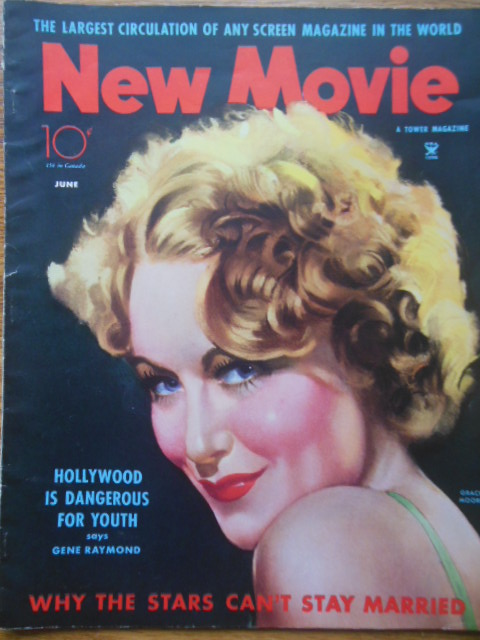 Image for The New Movie Magazine, June 1935 (Grace Moore, Will Rogers, Joan Crawford, Garbo, Maureen Sullivan)