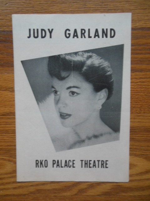 Image for Judy Garland RKO Palace Theatre Program 1956