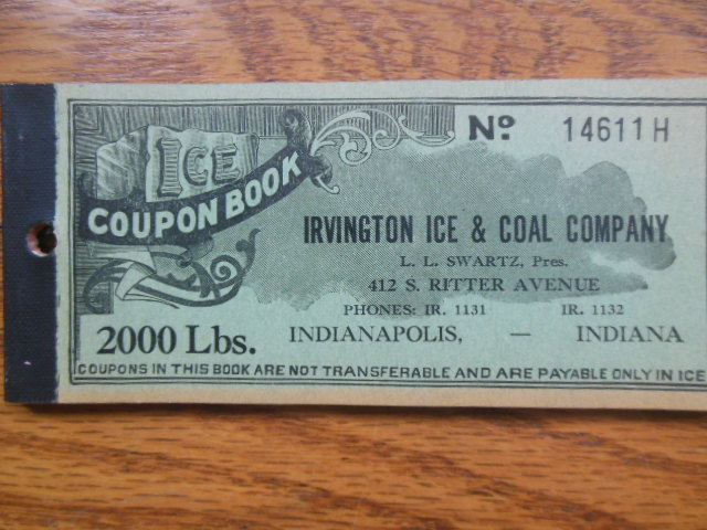 Image for Irvington Ice & Coal Company Coupon Book (Indianapolis)