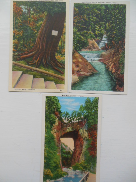 Image for Three Postcards  Natural Bridge Virginia