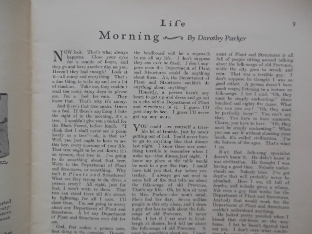 Image for Life Magazine July 7, 1927 (Dorothy Parker)