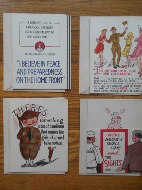 Image for WWII Greeting Cards (4 Unused with envelopes)