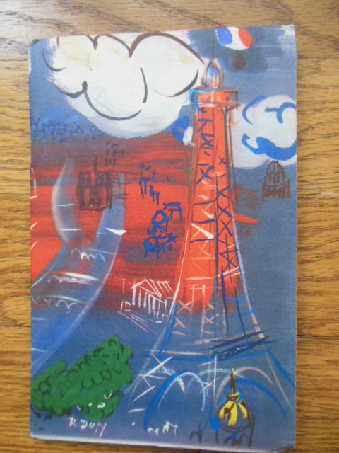 Image for Paris Where What When How (1952 Travel Brochure Raoul Dufy Cover Art)