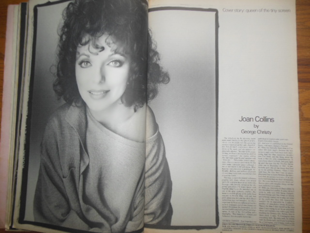 Image for Andy Warhol's Interview Magazine (September 1984 Jackie Collins. David Letterman, Tom Brokaw, Peter Jennings, Barbara Walters)