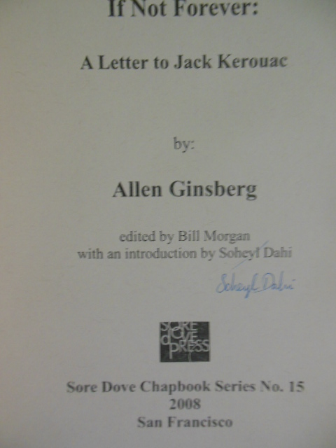 Image for If Not Forever; A Letter to Jack Kerouac from Allen Ginsberg (Limited 1st Edition)