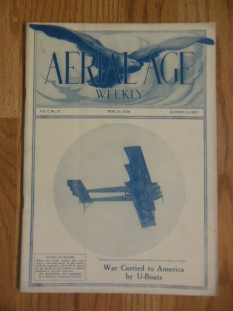 Image for Aerial Age Weekly Magazine (June 10, 1918)