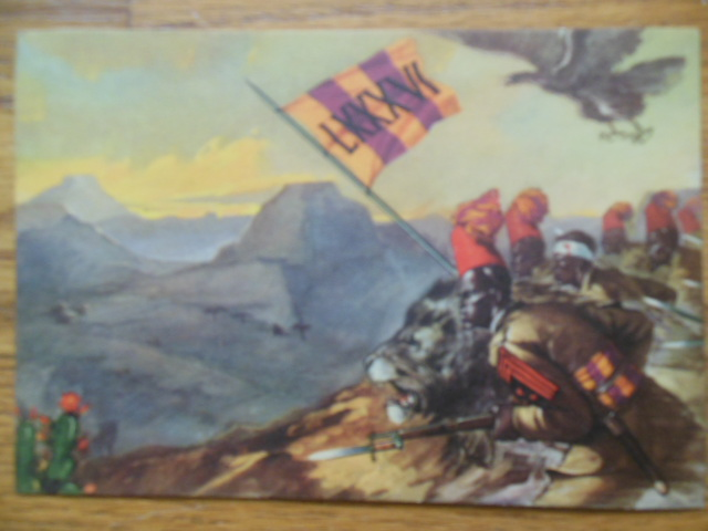 Image for Postcard Battaglione Coloniale (Ethiopian war circa 1939)