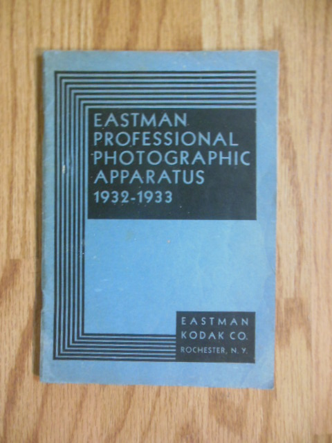 Image for Eastman Professional Photographic Apparatus Catalog 1932-1933