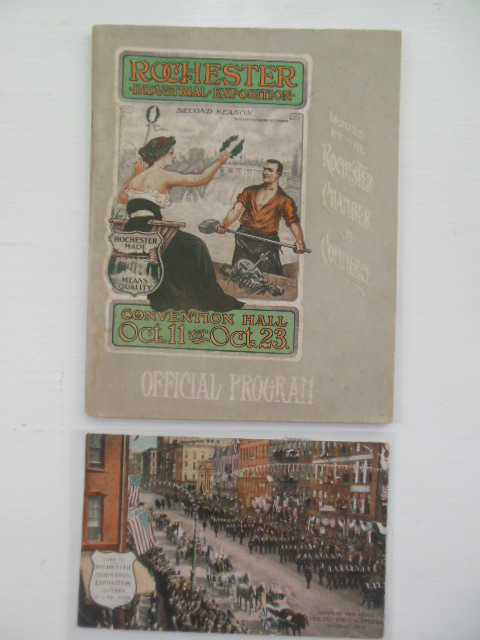 Official Program of the Second Rochester Industrial Exposition Oct. 11-23, 1909 (Color Postcard Laid-in)