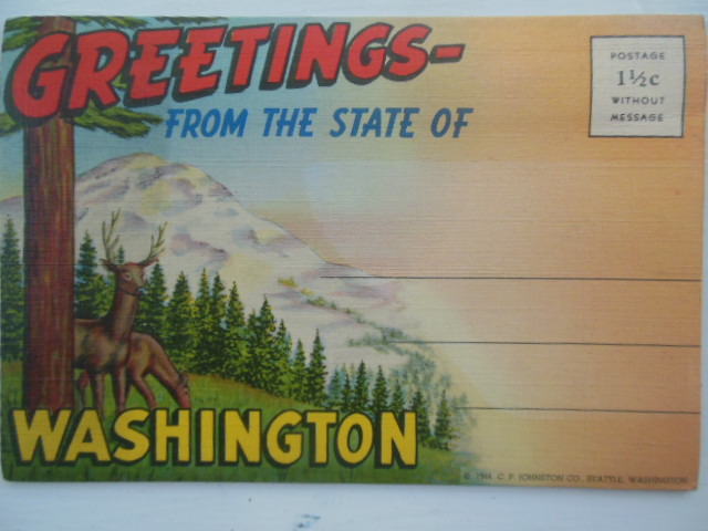 Image for Greetings From the State of Washington Multi-view Postcard Mailer (1944)