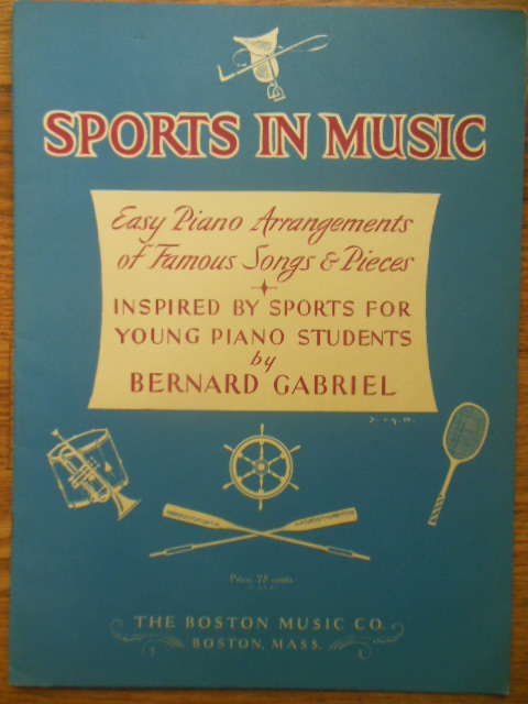 Image for Sports In Music; Easy Piano Arrangments (1955)