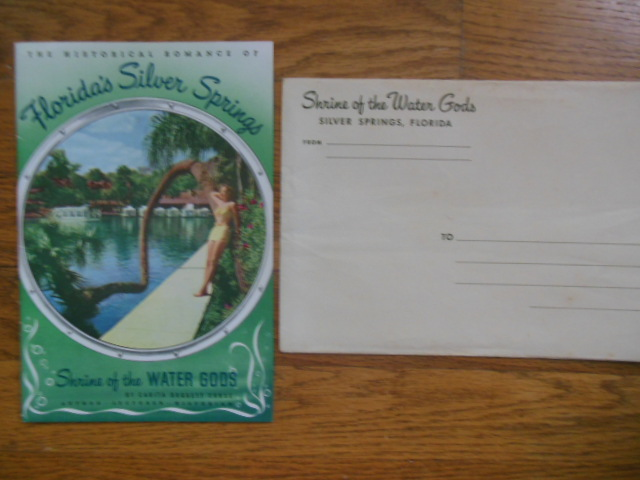 Image for The Historical Romance of Florida's Silver Springs, Shrine of the Water Gods 1948 (original envelope included)