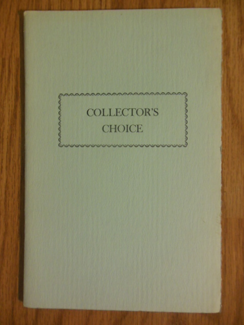 Image for Collector's Choice (Clements Library University of Michigan 1967)